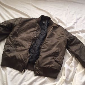 Men's army green bomber jacket